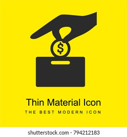 Make a donation bright yellow material minimal icon or logo design
