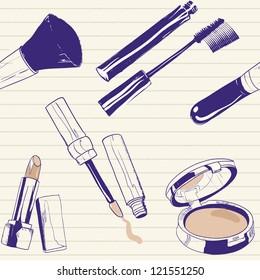 Make up doodles