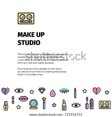 make flyer beauty studio make flyer stock vector royalty free