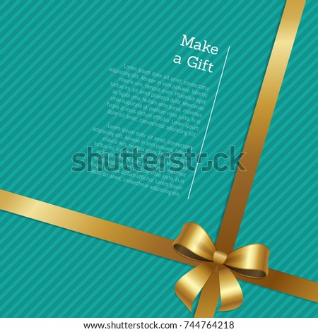 make gift certificate greeting card design stock vector royalty