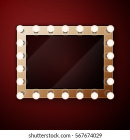 Vanity mirror lights images stock photos vectors shutterstock make up mirror with light bulbs mozeypictures Choice Image