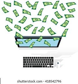 Make money concept design on white background,vector