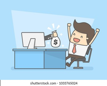 Make Money Online. Business Concept Illustration.