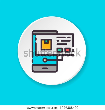 Make Order Flat Color Icon Concept Stock Vector Royalty Free