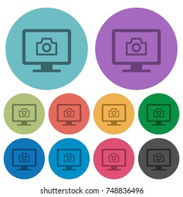 Make screenshot darker flat icons on color round background