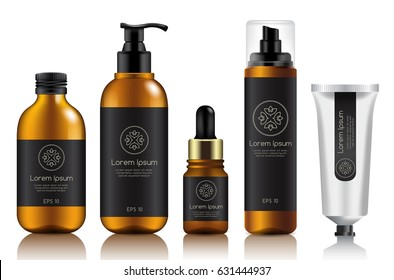 Make Up and Skincare Packaging Template : Vector Illustration