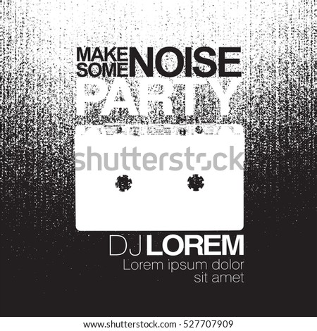 make some noise night party flyer stock vector royalty free