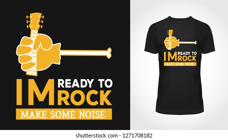 9692ffff Make some noise slogan with rock and roll print, hipster vintage label,  graphic design