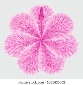 Make a vector feather flower for pillow,feather flower,vector flower