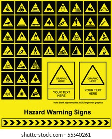 Make your own Hazard Warning sign graphics individually layered