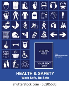 Make your own Health and Safety sign graphics individually layered