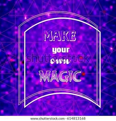 Make Your Own Magic Decorative Card StockVektorgrafik Lizenzfrei Impressive Make Your Own Decorative Sign