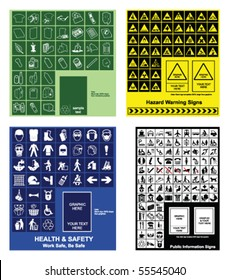 Make your own recycling, hazard warning, health & safety and public information signs
