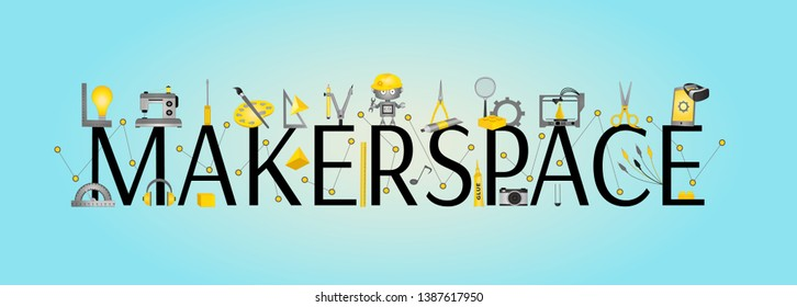 Makerspace Banner - STEAM Education and innovation design