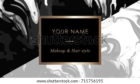 Makeup artist hair stylist business card stock vector royalty free makeup artist and hair stylist business card template elegant vector template business cards with black wajeb Choice Image