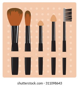 Makeup brush vector illustration