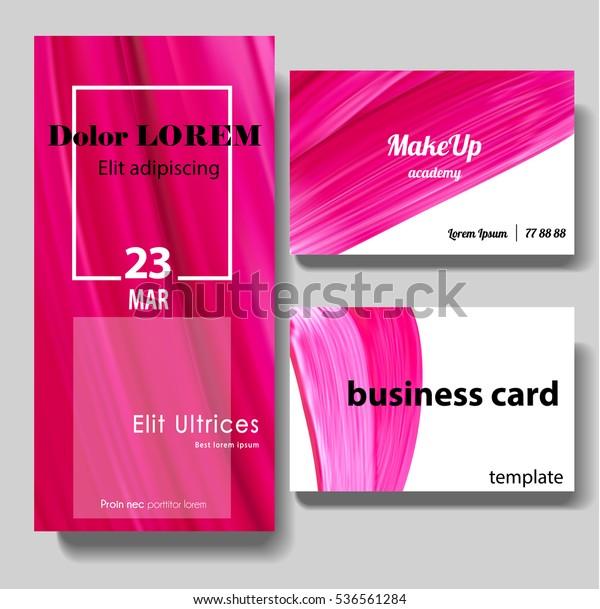 Make Up Visitenkarte Schönheitsflyer Vorlage Malerpinsel