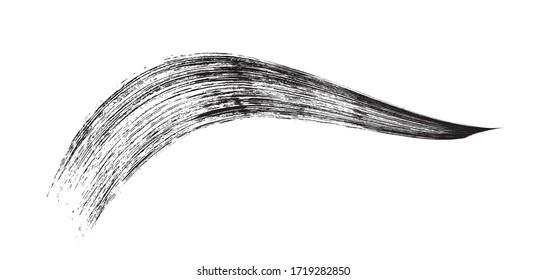 make-up cosmetic mascara brush stroke on white