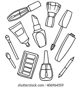 Makeup Product Drawings Images, Stock Photos \u0026 Vectors