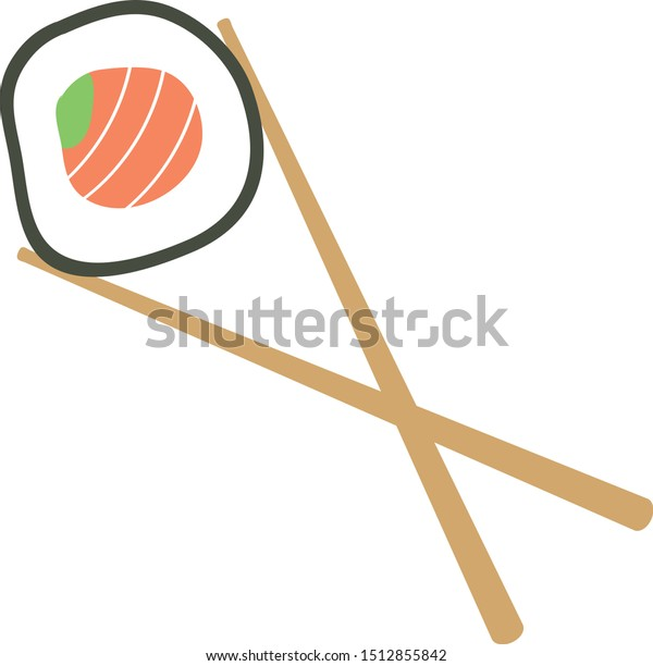 Maki Sushi with Wooden Chopsticks
