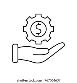 Making money outline icon
