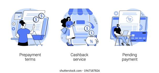 Making online purchase abstract concept vector illustrations.
