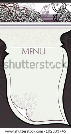 making page restaurant menu stock vector royalty free 102333745