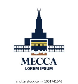 makkah kaaba hajj omra logo with text space for your slogan / tag line, vector illustration