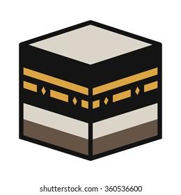 Makkah Kaaba Muazzama / Ka'aba cube flat icon for apps and websites
