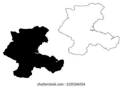 Malatya (Provinces of the Republic of Turkey) map vector illustration, scribble sketch Malatya ili map