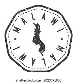 Malawi Map Stamp Retro Postmark. Silhouette Postal Passport. Seal Round Vector Icon. Badge Vintage Postage Design.