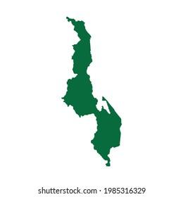 Malawi Map. Malawi Map vector. Malawi Map illustration. Malawi map chart