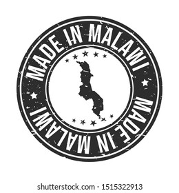 Malawi Symbol. Silhouette Icon Map. Design Grunge Vector. Product Export Seal.