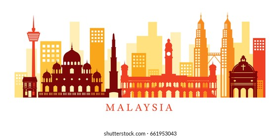 Malaysia Architecture Landmarks Skyline, Shape , Cityscape, Travel and Tourist Attraction
