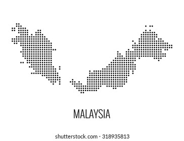 Malaysia cotted map,vector