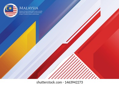Malaysia country concept flag background  beautiful vector illustration template cover modern, futuristic, elegant and symbolic. use for banner, card, cover, business, corporate, economic world