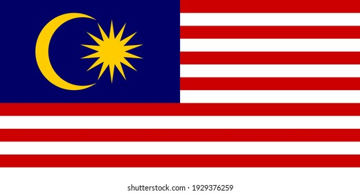 Malaysia flag. Official colors. Correct proportion