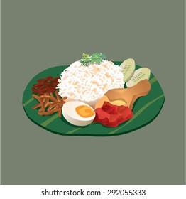 Malaysia food Nasi Lemak