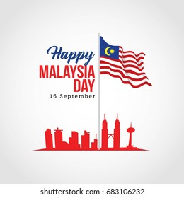 Malaysia Independence Day Design Vector