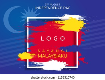 Malaysia Independence Day Greeting Card, 31st August 2018, Merdeka, Sayangi Malaysiaku, National Day, Malaysia Flag