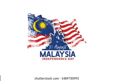Malaysia Independence Day, the holiday of August 31. banner posters, cards, brochures, flyers