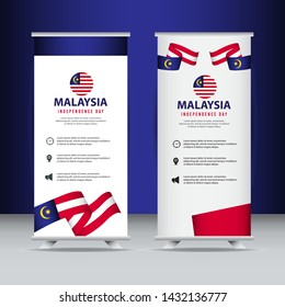 Malaysia independence day vector template. Design for banner; greeting cards or print.