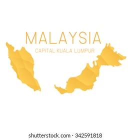 Malaysia map geometric background,