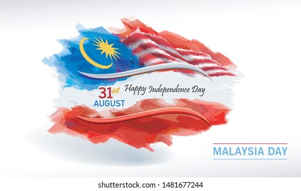 Malaysian flag on the Independence Day