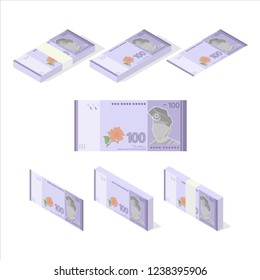 Malaysian Ringgit Banknote Vector Illustration
