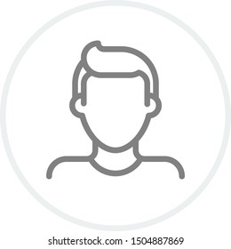 Male avatar icon. Simple man avatar vector icon. Sign and symbol for web logo mobile app UI. Pixel Perfect.