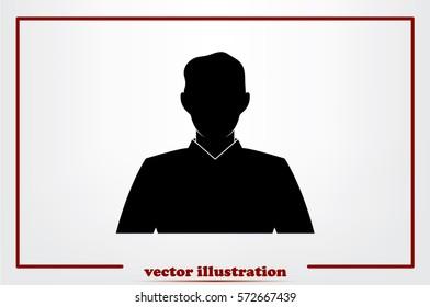 Male avatar Icon Vector.
