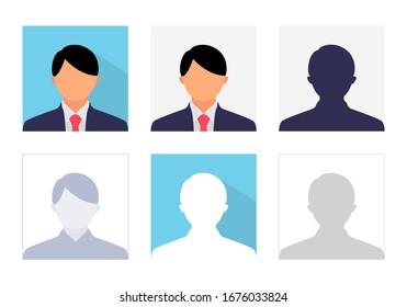 Male Avatar Profile Vector, Profile Office Icon Collection