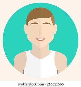 Male avatars in flat style