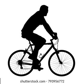 Adults Riding Bikes Stock Vectors, Images & Vector Art